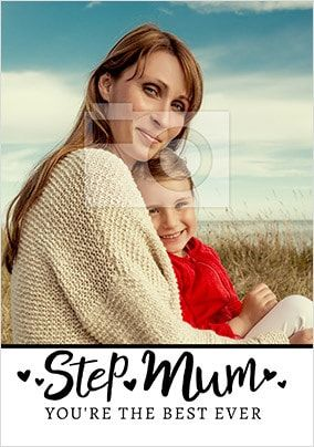 Best Ever Step-Mum Photo Card