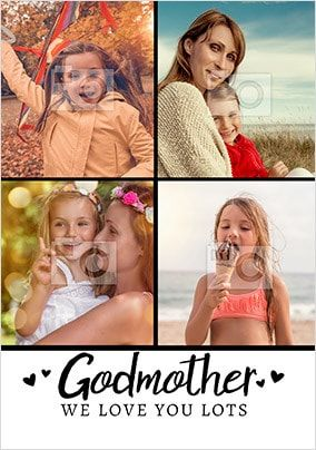 Godmother We Love You Photo Card