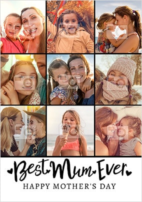 Best Mum Ever Mother's Day Multi Photo Card