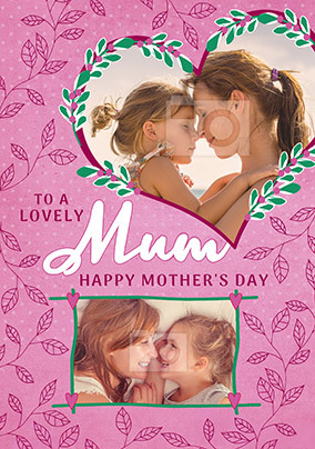 Lovely Mum Double Photo Mother's Day Card