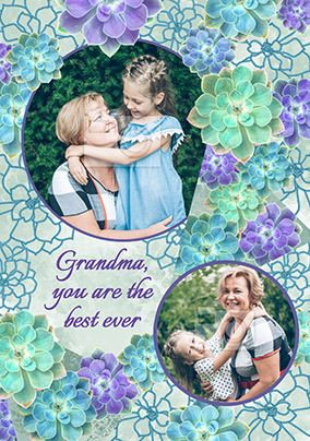 Grandma You Are The Best Ever Photo Mother's Day Card