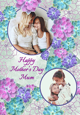 Happy Mother's Day Bright Plants Photo Card