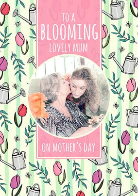 Blooming Lovely Mum Mother's Day Photo Card
