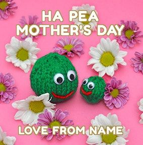 Ha pea Mother's Day Personalised Card