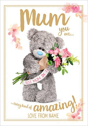 Every kind of Amazing Me to You personalised Card