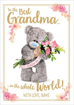 Best Grandma Me to You personalised Card