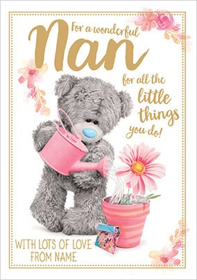 For a Wonderful Nan Me to You personalised Card