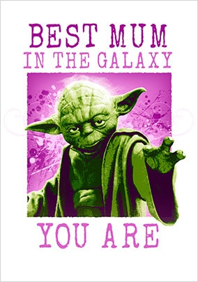 Best Mum Yoda Mother's Day Card