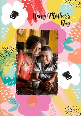 Happy Mother's Day Floral Photo Card