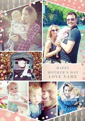 Happy Mother's Day Multi Photo Shimmers Card