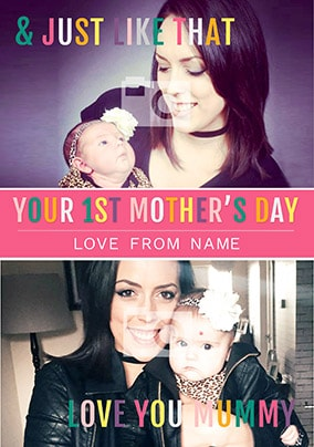 Your First Mother's Day Daughter Photo Card