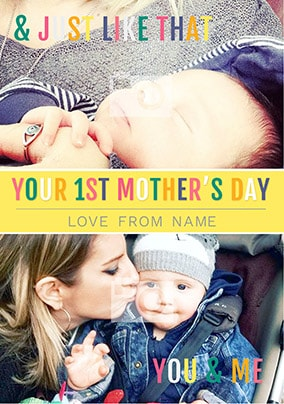 Your First Mother's Day Son Photo Card