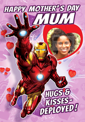 Iron Man Mother's Day Card - Hugs & Kisses Deployed!