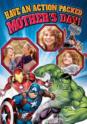 Avengers Mother's Day Photo Card