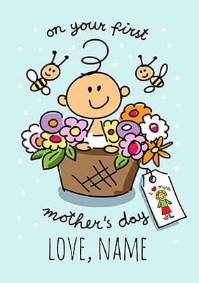 Babette First Mother's Day Personalised Card