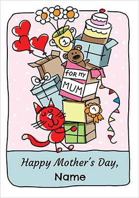 Babette - Happy Mother's Day Cat Personalised Card