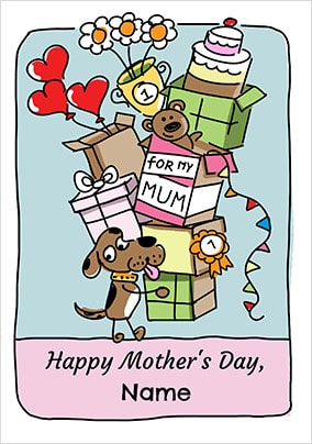 Babette - Happy Mother's Day Dog Personalised Card