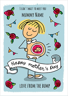 Babette -Mother's Day From Bump Personalised Card