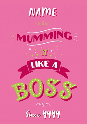 Like A Boss Personalised Mother's Day Card