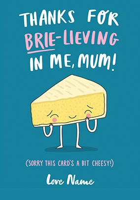 Brie-Living In Me Personalised Mother's Day Card