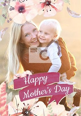 Happy Mother's Day Boho Photo Card