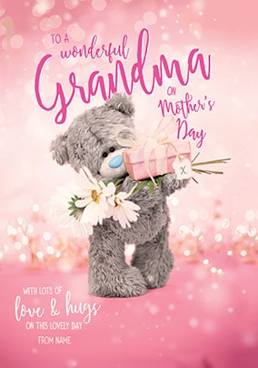 Wonderful Grandma On Mother's Day Personalised Card