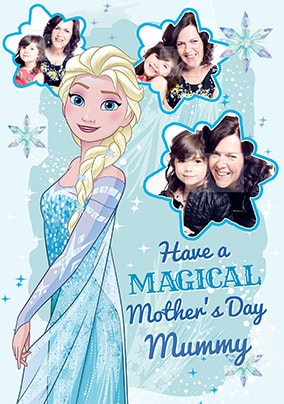 Elsa Mother's Day Photo Card