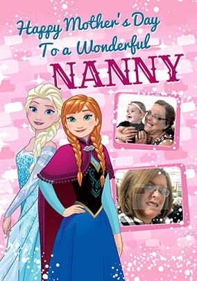 Frozen Nanny Mother's Day Photo Card