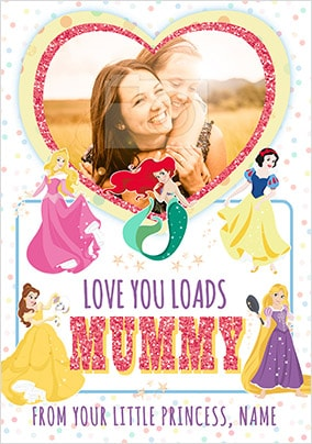 Mummy Disney Princess Photo Card