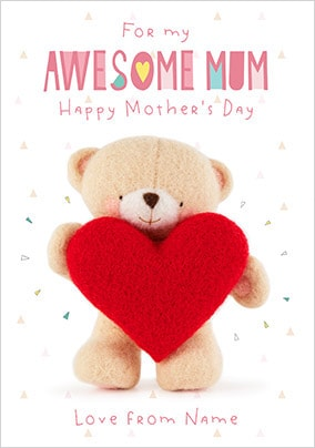 Forever Friends - Awesome Mum Personalised Card