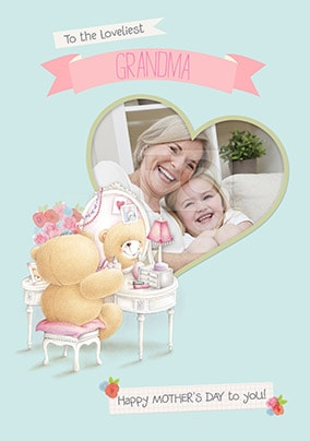 Loveliest Grandma Forever Friends Photo Mother's Day Card