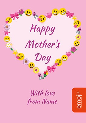 Emoji - Happy Mother's Day Personalised Card