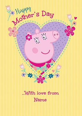 Peppa Pig - Mother's Day Personalised Card