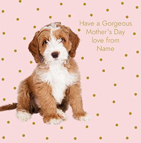 Gorgeous Mother's Day Dog Personalised Card