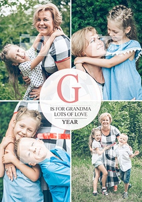 G Is For Grandma Multi Photo Card