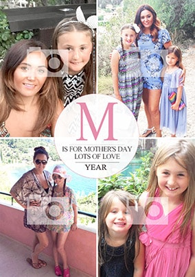 M Is For Mother's Day Multi Photo Card