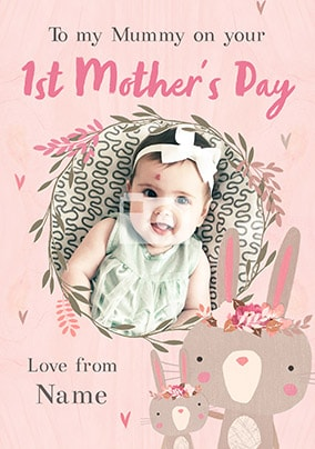 On Your First Mothers Day Daughter Photo Card