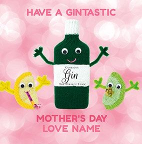 A Gintastic Mother's Day Personalised Card