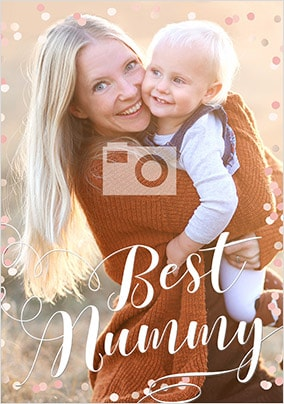 Best Mummy Full Photo Card