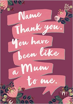 Like A Mum Personalised Card