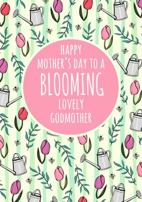 Lovely Godmother Personalised Mother's Day Card