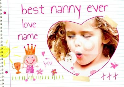 Love From Me - Best Nanny Ever Trophy