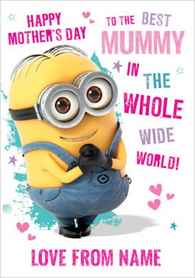 Despicable Me 2 Mother's Day Card - To the Best Mummy