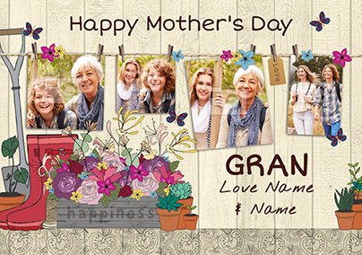 Gran Photo Upload Mother's Day Card - Sow a Seed of Joy