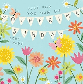 On Mothering Sunday Personalised Card