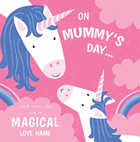 Magical Mummys Day Personalised Card