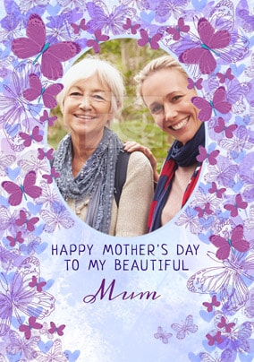 Beautiful Mum Photo Mother's Day Card