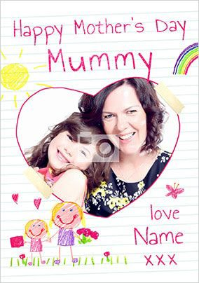 Happy Mother's Day Mummy Daughter Photo Card