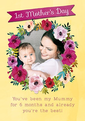Already You're The Best First Mother's Day Photo Card