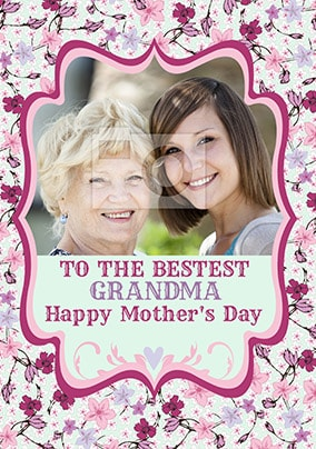 Bestest Grandma Photo Mothers Day Card